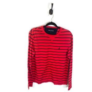 5 for $30 Nautica Long Sleeved Striped Red Small